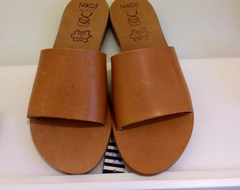 "Greek Leather Sandals ""margareta"" code #202"