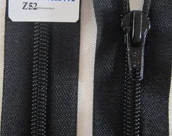 Closure zipper 55 cm detachable black