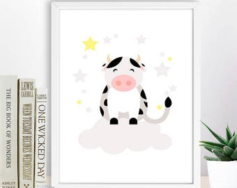 Nursery Farm Animal Print, Baby Animal  Printable Wall Decor, Instant Download Digital Art, Kid Room Decor,  Nursery Animal Print