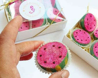 Watermelon Mini Bubbly Bath Truffles Gift Box -  Box of 6