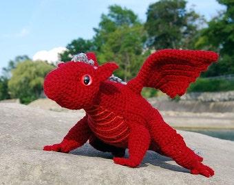 PDF Crochet Pattern - Baby Dragon Amigurumi