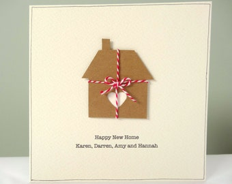 Moving cards etsy nz personalized new home card rustic housewarming cards personalised happy new home cream brown m4hsunfo Gallery