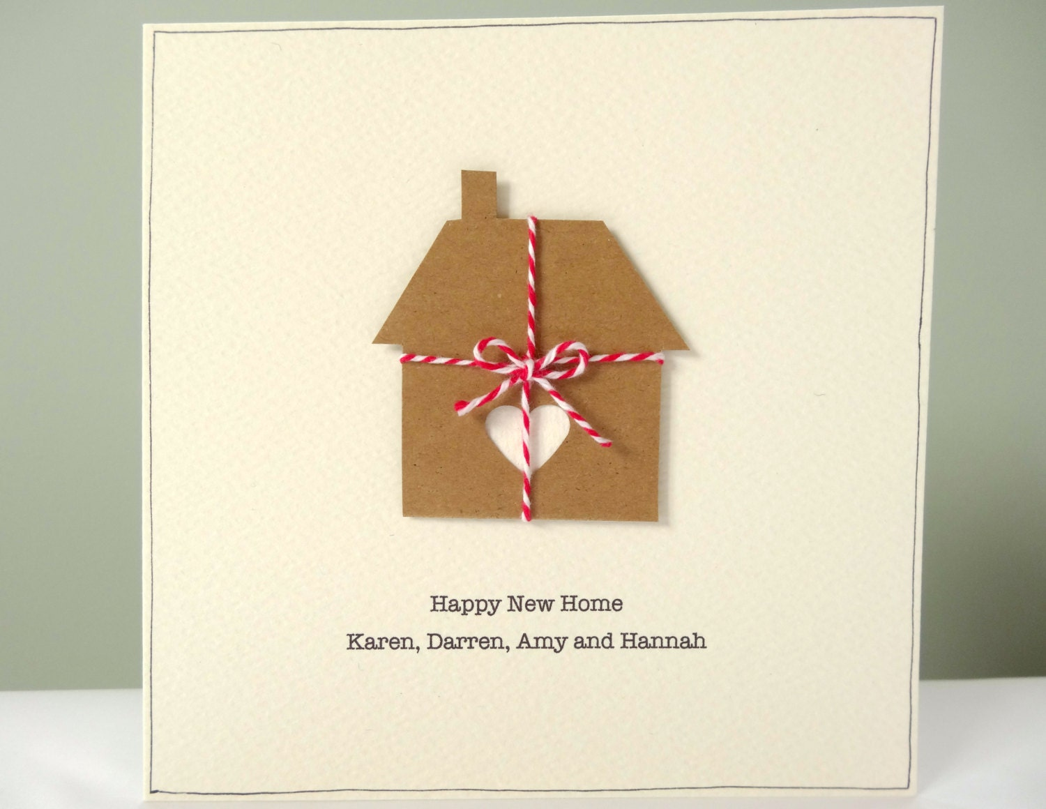 Personalized New Home Card Rustic Housewarming Cards