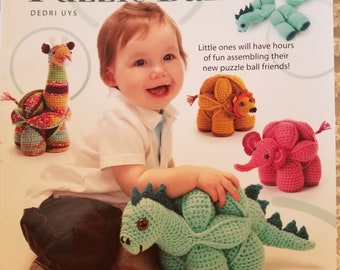 Amamani Puzzle Balls Book by Dedri Uys....Crocheted Animal Puzzle Balls