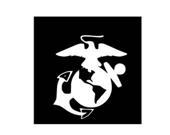 Military Vinyl Decal, Laptop Decal, Car Decal, Window, Tablet, USMC