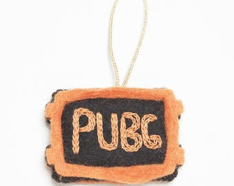 Felt PUBG Christmas Ornament – Hand Made- Gifts for Gamers - Gifts for Geeks