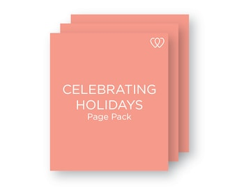 Celebrating Holidays Pack // Baby Book Additional Page Pack