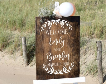 Wedding Welcome Sign Decal | DIY Wedding Sign Decals | Welcome to our Wedding Sign | Personalized Wedding Decal | Wedding Ceremony Sign