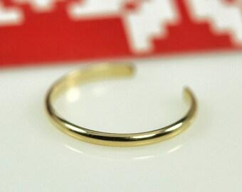 Adjustable Gold Toe Ring, 14k Yellow Gold fill, Half Round, Kristin Noel Designs