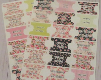Watercolor Floral 1.5 inch Bible Tabs