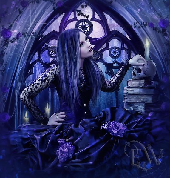 Gothic fantasy Pagan Witch woman print