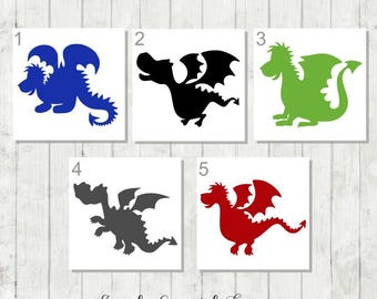 Baby Dragon Decal, Dragon Decal, Dragon Party Favors, Dragon Tumbler Decal, Dragon Sticker, Dragon Birthday Gift, Cute Dragon Decal