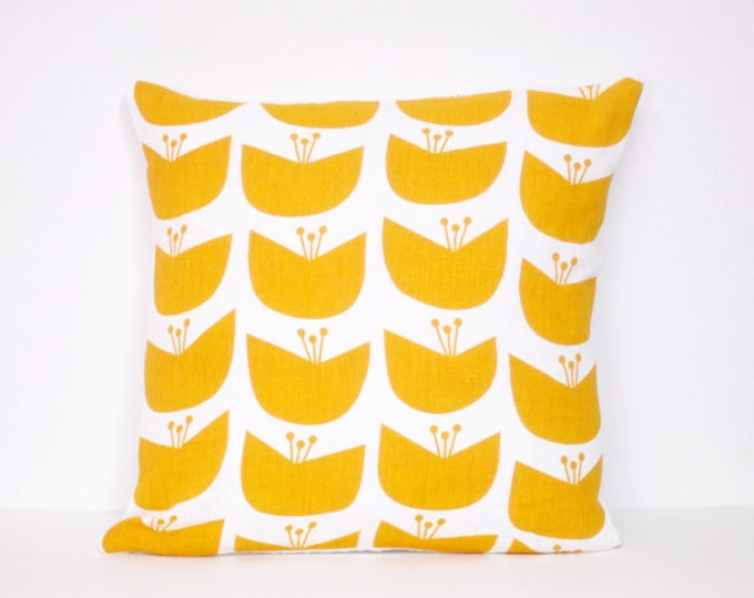 blossom pillow cover - gold
