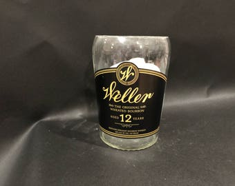 Weller Bourbon Candle/Huge 1.75 Liter vs 750ML W. L. Weller 12 Year Bourbon Candle/Weller WHISKEY BOTTLE Candle New Label  Soy Candle.