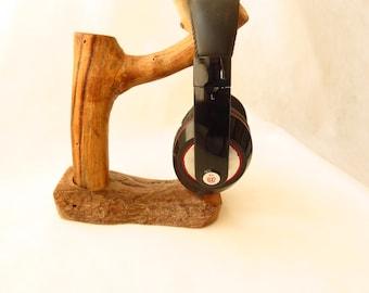 Driftwood headphone stand natural and modern headphone holder    ** one of a kind **  headphones hanger