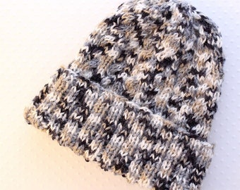 Hand knitted unisex cable Hat