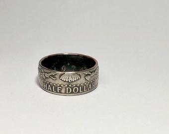 JFK Half Dollar - Coin Ring - Coin Jewelry - Rings - Birthday Gift - Husband - Wife - Men - Kennedy Half Dollar - Anniversary Gift - Wedding