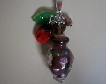 Murano glass bottle Necklaces, Mini Art Glass Bottles, Perfume Bottle, Cremains Mini Bottle, 4 Designs, SALE, by Brendas Beading