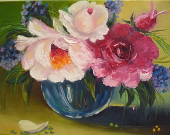 Oil Painting Flowers Floral Painting Flower Oil Painting, Floral Still Life Contemporary Art, Floral Art, Floral Oil Paintingn