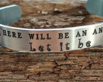 There will be an answer Let it be cuff bracelet