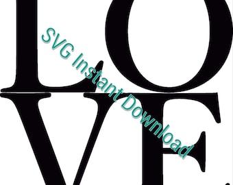 Love SVG File, Love Squared, Vinyl Cut File, SVG Instant Download