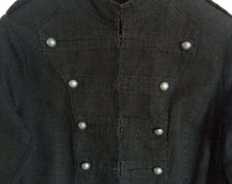Vintage Woman's Black Classic Military Style Blazer Large/XLarge Size