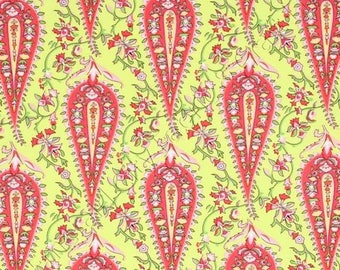 Amy Butler Cypress Paisley Lime,  LOVE Collection, Fat Quarter Quilt Fabric Sewing Fabric Retro
