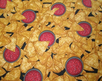Tortilla Chips & Salsa Cotton Fabric #149