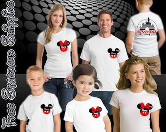 Items similar to Family - Cruise - Parks - Disney -Mouse- Ears - Applique  Shirt -Mickey - Minnie- Princess - Superhero- T-Shirt - Embroidery - Custom-  Name ...