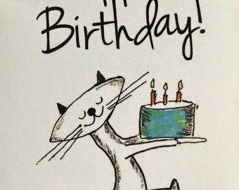 """Happy Birthday Card 5""""x7"""""""