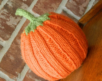 Hand Knitted Baby Pumpkin Hat - Great gift for Thanksgiving - 12 -18 months - Made to Order