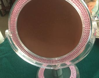 Double-faced Magnified Mirror pink