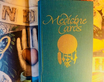 Medicine Cards BOOK by David Carson & Jamie Sams 1988 cool BOOK ONLY fortune telling new age reading Animals Tarot cards Totem card etsy