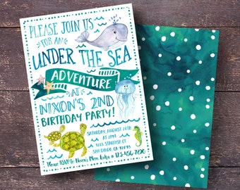 Under the sea invite Etsy