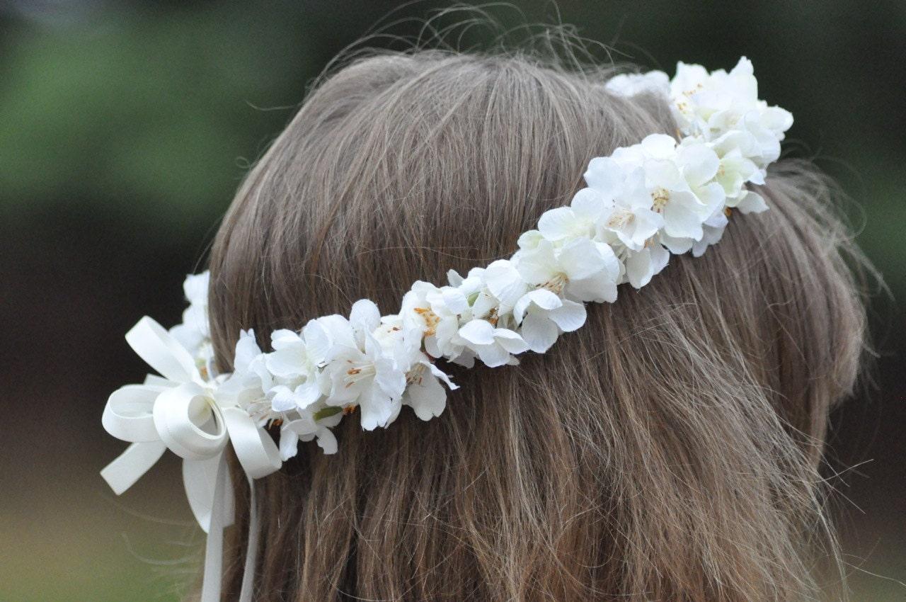 Famoso Ragazza di fiore ghirlanda prima comunione corona floreale MK02