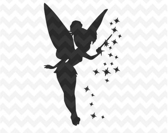 Tinkerbell Svg, Peter pan Tinkerbell SVG, dxf and png Instant Download Tinkerbell svg for cricut and silhouette