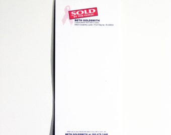 SOLD By the Gold! Advertising Notepad