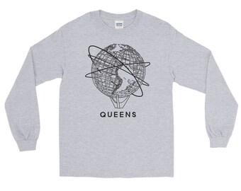 Queens Flushing New York Unisphere Design Long Sleeve T-Shirt