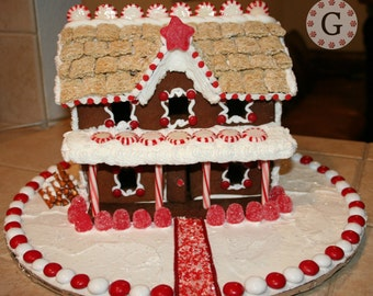 2 Story Inn Gingerbread House Template