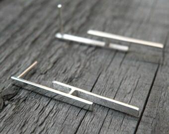 Geometric Earrings-sterling silver