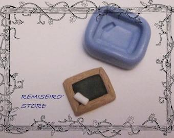 Mini mold slate school silicones 2 cm