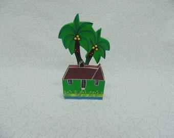 Napkin wooden palm tree, napkin made of wood, napkin holder, organizer for napkins, kitchen decor, wooden napkin stand