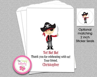 Pirate Party Favor Bags, Pirate Goody Bags, Boys Favor Bags, Party Favor Bag