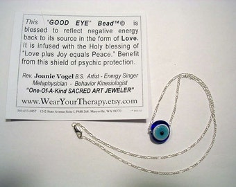 """NEW VERSION: Protection from the 'evil eye' with this new version I call The Good Eye Bead.™ """"Relax... You're Protected."""""""