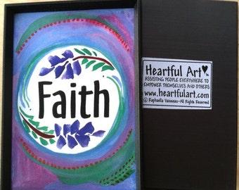 FAITH MAGNET Inspirational Print Motivational Affirmation Positive Thinking Spiritual Meditation Family Heartful Art by Raphaella Vaisseau