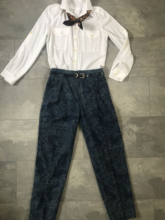 Vintage high waisted jeans | vintage mom jeans | Rosner pants | sixties jeans | carrot fit jeans