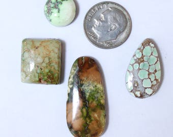 Natural Damele Turquoise Cabochon Lot