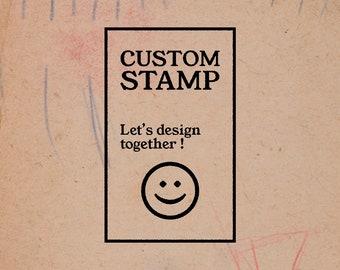 EX LIBRIS stamp - stamp custom personalized gift - graphic art - graphic design - illustration.