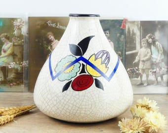 Art Deco Vase - 1930s Vase - Soliflore - Vintage - Flowers Vase - Paris Apartment - French vase - French ceramic