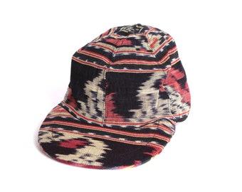 Vintage IKAT réversible 2 bonnets en 1 casquette de baseball sud-ouest